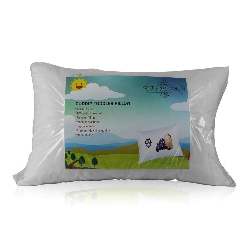 Toddler Pillow 13x18 Soft Hypoallergenic Machine Washable