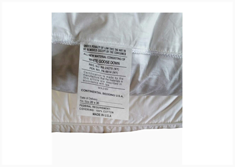 Continental Bedding Superior Pillows 700 Fill Power
